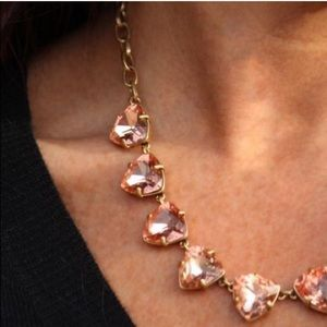 Stella & Dot peach somervell necklace